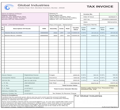 GST Tax Invoice Software & Format Online
