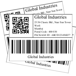 Online format of an Label for Exporters