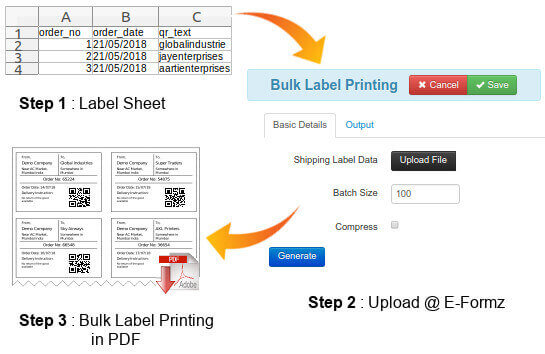 How To Generate Bulk Labels Using Eformz